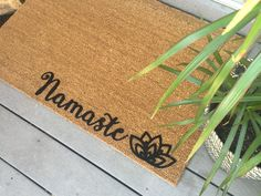 Front Door Mat - Custom Mats - Yoga Door Mat - Yoga Gift - Welcome Mat - Front…