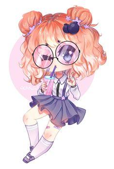 CHIBI😊 image by Yoai Hime✏. Find more awesome chibi images on PicsArt. Anime Neko, Cute Anime Chibi, Manga Cute, Cute Anime Pics, Kawaii Chibi, Kawaii Anime Girl, Anime Art Girl, Anime Eyes, 365 Kawaii