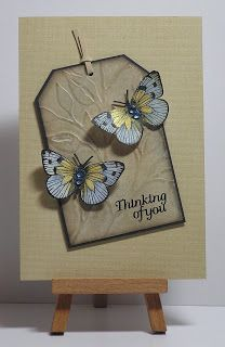 Cathys Card Spot: Antique linen & butterflies