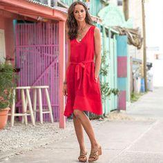 Cafe Rouge Dress // Sundance Catalog