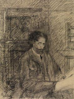 James Ensor (Belgian, 1860 - Self-portrait, N/D Pencil on paper James Ensor, Selfies, Masks Art, Engagement Pictures, Modern Art, Cool Art, Street Art, Sketches, Fine Art