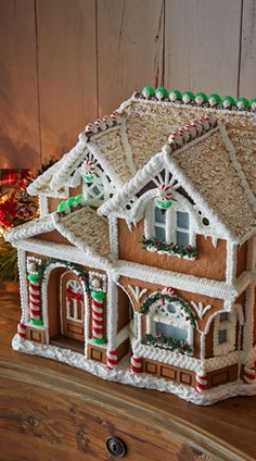 Peppermint Porch Gingerbread House and lots of other Christmas decorating ideas.