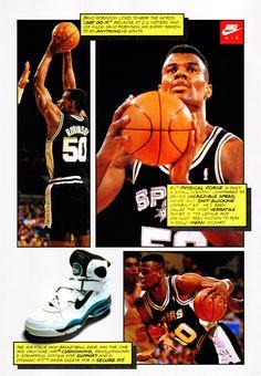 David Robinson - Nike Air Force High back Air Max 2009, Nike Air Max 2012, Air Max Thea, Vintage Nike, Vintage Ads, Nike Air Force High, Nike Poster, Max Trainer, Nike Ad