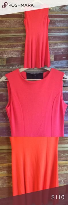 NWT French Connection Cotton Dress Orange/red hue dress with mesh back detail. NWT. Size 10 runs a little smaller. French Connection Dresses Mini