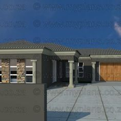 4 Bedroom House Plan – My Building Plans South Africa Round House Plans, House Plans With Photos, Best House Plans, Dream House Plans, House Floor Plans, Drunk Disney, Single Storey House Plans, Flat Roof House Designs, House Plans South Africa