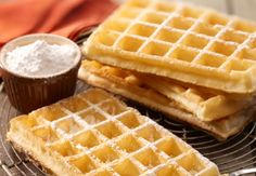 Les gaufres au sucre  La recette basique des gaufres est très simple. Elle se prépare en 15 minutes top chrono.Voir la recette des gaufres au sucre