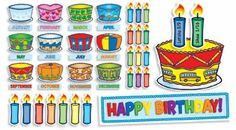 Birthday Cakes Mini Bulletin Board Set $5.99