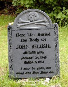 John Belushi's grave, Abel's Hill Cemetery, Martha's Vineyard, Massachusetts