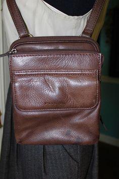 Fossil Brown Leather Cross Body Shoulder Handbag Women Purse #Fossil #CrossBodyShoulderHandbag