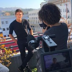 """1,697 Likes, 32 Comments - Sylvia Day (@sylvia_day) on Instagram: """"Shooting #BehindTheScenes interviews today. @wtylerjohnson is up first! #AfterburnAftershockMovie"""""""