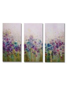 Watercolor Meadow Printed Canvas Art...