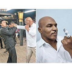 "Martial arts funny news. ""Donnie Yen broke Mike Tyson's index finger by accident during a fight scene. Donnie hit Mike's hand with his elbow and broke it. Like the professional…"""