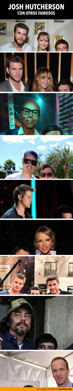 Josh Hutcherson con otros famosos