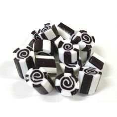 Black and White Swirl Rock Candy - Pink Frosting Wedding Favours
