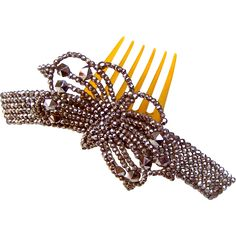 Victorian Cut Steel Hair Comb Hinged Butterfly Design Hair Accessory from…