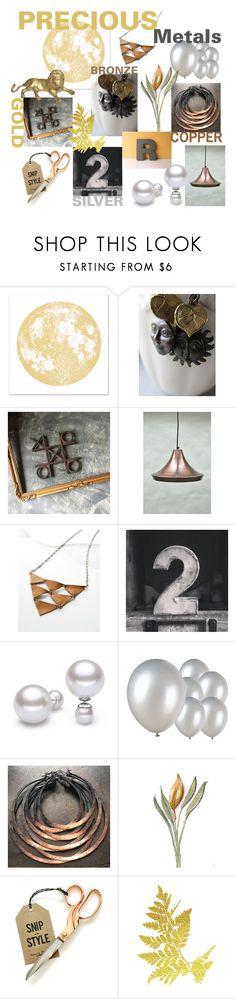 """Precious Metals"" by pgarmhausen on Polyvore featuring interior, interiors, interior design, home, home decor and interior decorating"