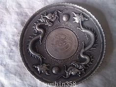 Unusual Chinese Qing dynasty imperial silver - Guanxu Dragon Plate(China (Mainland)