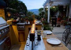 dreamy outdoor summer kitchens