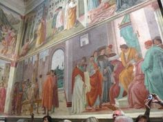 Part of Massaccio's fresco sequence for the Brancacci Chapel, Sta Maria del Carmine, Florence.  When you walk into the Brancacci chapel there is only one thing you can say - Wow!