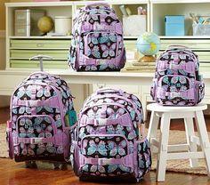 Mackenzie Lavender Butterfly Backpacks on potterybarnkids.com