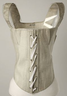 Corset Date: 1810–50 Culture: American or European Medium: [no medium available] Dimensions: [no dimensions available] Credit Line: Gift of Lee Simonson, 1938 Accession Number: C.I.38.23.291