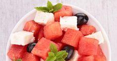 Recette de Salade de pastèque et feta. Facile et rapide à réaliser, goûteuse et diététique. Ingrédients, préparation et recettes associées.