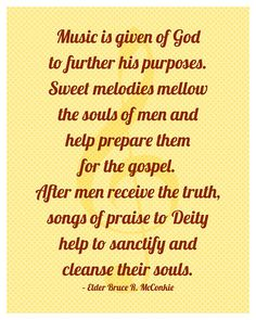Music is given of God...