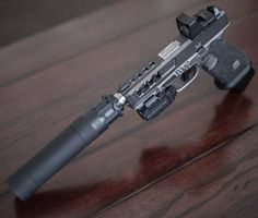 Suppressed Glock 19