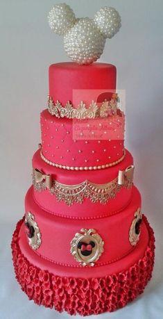 Cake disney wedding minnie mouse 56 ideas for 2019 Bolo Do Mickey Mouse, Minnie Mouse Birthday Cakes, Mickey Cakes, Minnie Mouse Cake, Mickey Birthday, Baby Shower Cakes, Beautiful Cakes, Amazing Cakes, Family Cake