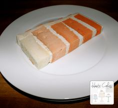 Northern Virginia Wedding Cake Slice Orange Ombre | Haute Cakes Pastry Shop