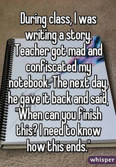 I had a similar incident in school. :D