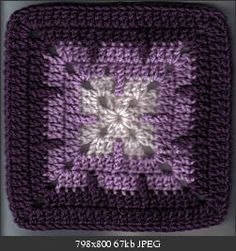 Creeping Trebles crochet square pattern. I'm not usually a purple fan but I even like the colors.