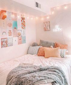 Dorm Room Designs, Room Design Bedroom, Room Ideas Bedroom, Bedroom Inspo, Bedroom Decor For Teen Girls, Teen Bedroom, Cozy Room, Aesthetic Bedroom, Dream Rooms