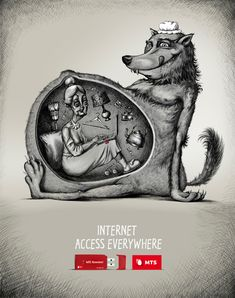 MTS Telecommunications - Internet Access Everywhere | #ads #adv #marketing #creative #publicité #print #poster #advertising #campaign < found on www.ibelieveinadv.com pinned by www.BlickeDeeler.de | Have a look on www.Printwerbung-Hamburg.de