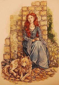 Lady and Sansa by jenimal