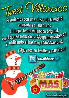 Dejanos tu #Tweet #villancico y podrás ganar una cesta de #Navidad    #concursos #regalos #twitter