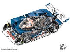 Toyota Cut Away Illustration