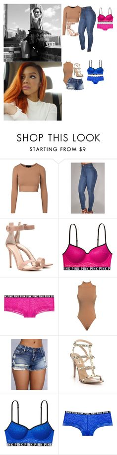 """""""Marissa,Kyndell Rodriguez"""" by divas-and-champs-anons ❤ liked on Polyvore featuring Gianvito Rossi, Victoria's Secret and Valentino"""