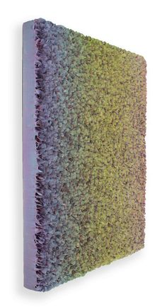 Zhuang Hong Yi Vanilla Fields, 2016 Colour change Painted fine rice paper petals with acrylic frame. 150 x 120 cm