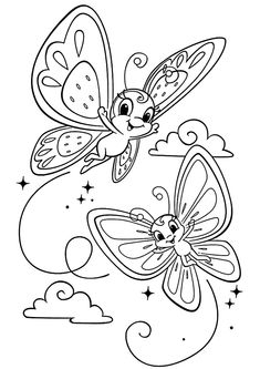 Cute butterfly Coloring Page. Cute butterfly Coloring Page. Princess Coloring Pages, Coloring Pages For Girls, Cute Coloring Pages, Disney Coloring Pages, Animal Coloring Pages, Free Printable Coloring Pages, Free Coloring, Coloring Books, Kids Coloring