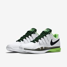 outlet store a8bdb 26e18 Nike Zoom Vapor 9.5 Tour Mens Tennis Shoes 11 White Voltage Green 631458  103  Nike
