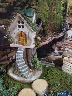 Fairy Garden Tree House Resin Fairy Garden by BarbarasBoutiqueShop