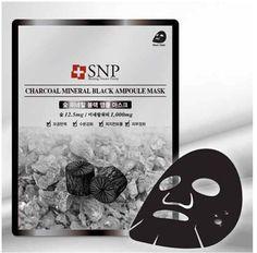 SNP Charcoal Mineral Black Ampoule Face Mask Pack Facial Mask Sheet  25ml 10pcs #SNP #333korea #skincare #beauty #koreacosmetics #cosmetics #oppacosmetics #cosmetic #koreancosmetics #masksheet #maskpack #facemask #facialmask
