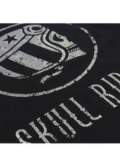 Skull Logo Chrome - Black