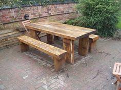 Russell Ward's railway sleeper tables