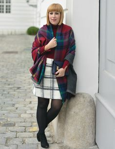 Plaid blanket scarf | thelifbissue