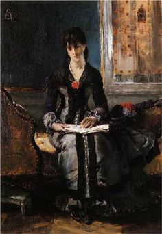 Portrait of a Young Woman - Alfred Stevens  1870