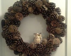 Winter Holiday Pinecone Grapevine Wreath