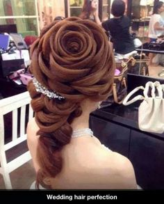 Rose Hairstyle STUNNING FOR A BRIDE