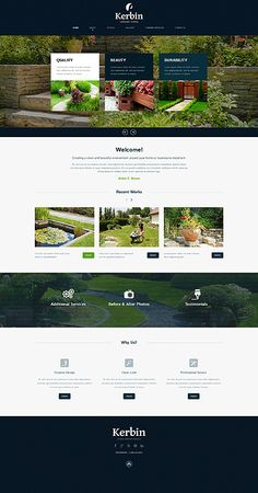 Landscape Design Responsive Website Template New Screenshots BIG Layout Site, Website Design Layout, Homepage Design, Web Layout, Layout Design, Design Responsive, Wordpress Theme Design, Template Web, Website Template